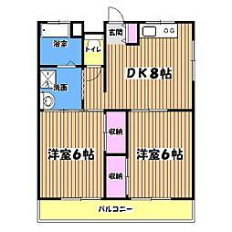 エールマンション[1階]の間取り