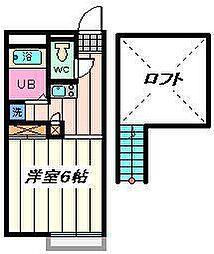 埼玉県さいたま市岩槻区本町2丁目の賃貸アパートの間取り