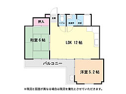 大仙ビル3階Fの間取り画像