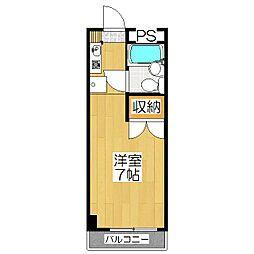 KITANOクレセント[505号室]の間取り