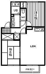 セジュールM2[108号室]の間取り