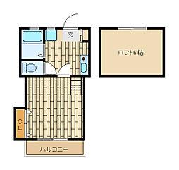 東京都江戸川区東葛西8の賃貸アパートの間取り