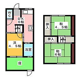 ヤマタアパート[2階]の間取り