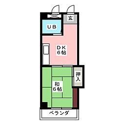 CASA NOAH鶴舞公園Ⅰ[6階]の間取り