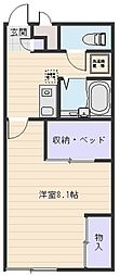 大阪府八尾市西高安町3丁目の賃貸アパートの間取り