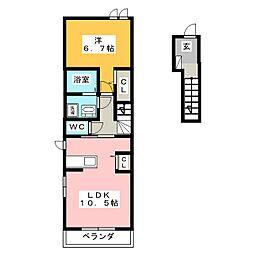 ロジュマンG[2階]の間取り