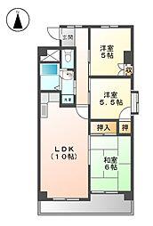 黒川タ−ミナルハイツ[8階]の間取り