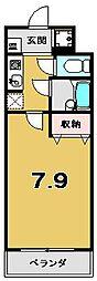 メディナ東寺[6階]の間取り