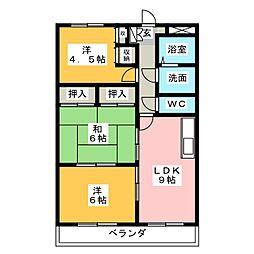 コンフォート悠とぴあ[3階]の間取り