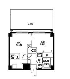 都営新宿線 曙橋駅 徒歩5分の賃貸マンション 6階1LDKの間取り