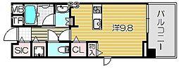 THE GARDEN SUITE[4階]の間取り