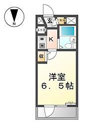 愛知県稲沢市高御堂2丁目の賃貸マンションの間取り