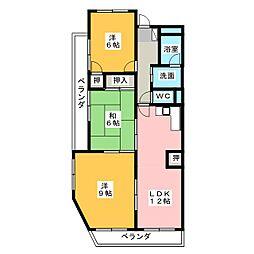 イーストウイングII[4階]の間取り