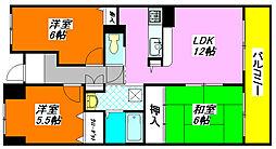 レシェンテ・オクノ 203号室[2階]の間取り