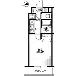 プレール・ドゥーク西新宿[4階]の間取り