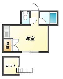 サンハウス津田沼[1階]の間取り