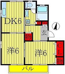 パールハイツイノセ55[1階]の間取り