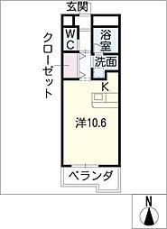 GRAN DUKE AXIS[2階]の間取り