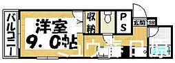 福岡県春日市須玖北8丁目の賃貸マンションの間取り