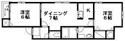 コーポマルイIII[2階]の間取り