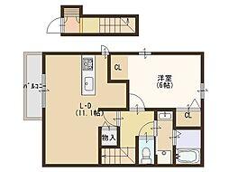 ソレアードユニティ2[2階]の間取り