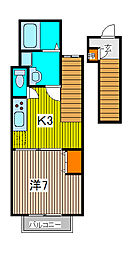 レジデンス武蔵浦和II[2階]の間取り