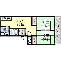 大阪府高槻市氷室町4の賃貸マンションの間取り