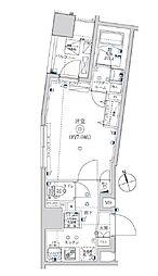 東武亀戸線 亀戸水神駅 徒歩8分の賃貸マンション 6階1Kの間取り