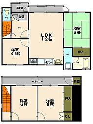 [一戸建] 北海道小樽市奥沢5丁目 の賃貸【北海道 / 小樽市】の間取り