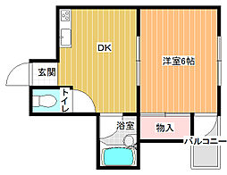 来夢99[3階]の間取り