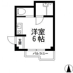 ハイツ菱屋[1B号室号室]の間取り
