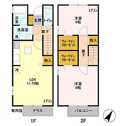 東京都国分寺市東恋ヶ窪5丁目の賃貸アパートの間取り