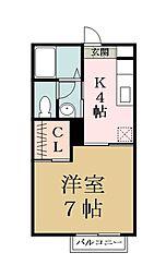 Crescent A[2階]の間取り