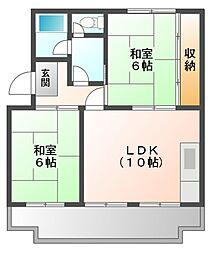 サンシャイン芝田[2階]の間取り