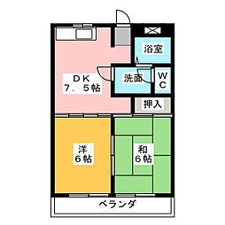 泉ハイツ45[1階]の間取り