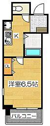 マンション花房[7階]の間取り