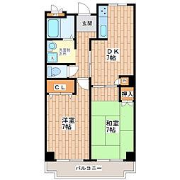 トリニティ加美東[5階]の間取り