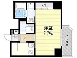 PARKHILLS池田Lien 7階1Kの間取り