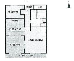 ラヴィーナ武庫之荘[501 号室]の間取り
