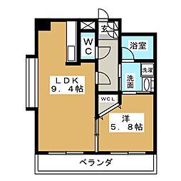 ラ・キャッスル泉[6階]の間取り
