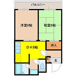 ファースト小阪[202号室]の間取り