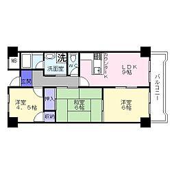 カサ・コモド[2階]の間取り