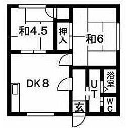 北海道札幌市豊平区豊平七条10丁目の賃貸アパートの間取り