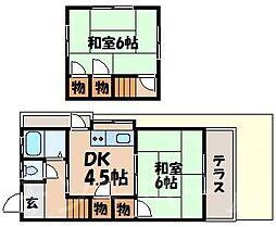 [テラスハウス] 広島県広島市安芸区中野7丁目 の賃貸【/】の間取り