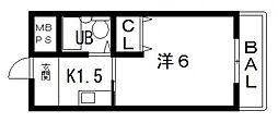 プリメール山田[202号室号室]の間取り