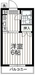 東京都多摩市山王下1丁目の賃貸マンションの間取り