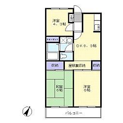グリーンタウン鶴ヶ島[2階]の間取り