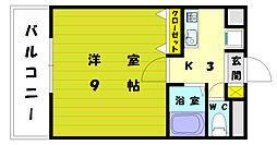 ウェーブコート[1階]の間取り