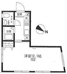 Style Residence 千歳烏山[102号室号室]の間取り