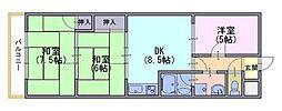 エクセル山崎[3階]の間取り
